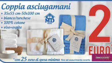 Coppia di asciugamani a solo 2 euro da MD