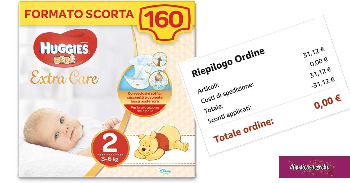 Pannolini Huggies quasi gratis (con questo coupon)