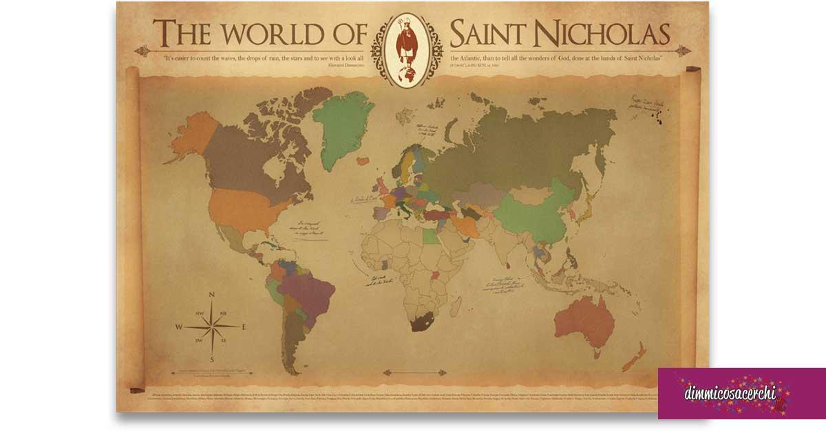 """Planisfero """"San Nicola nel mondo"""" omaggio"""
