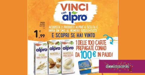 Vinci la spesa con Alpro in Conad