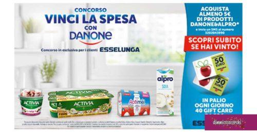 Vinci la spesa con Danone