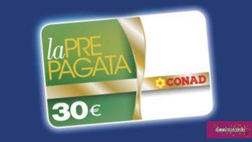 Vinci prepagate Conad da 30€ con SCJ