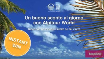 Vinci un buono sconto al giorno con Alpitour World
