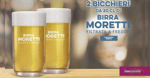 Bicchieri birra Moretti omaggio