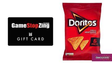 """Doritos """"Gioca con gusto"""": vinci gift card Game Stop"""