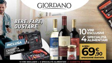 Giordano Vini: offerta attrezzi inclusi