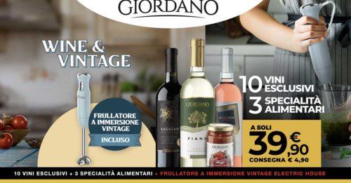 Giordano Vini: offerta frullatore incluso