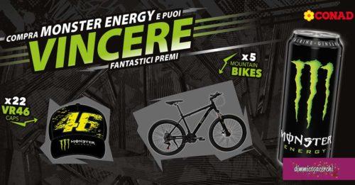 Monster Energy: vinci mountain bike e cappellini