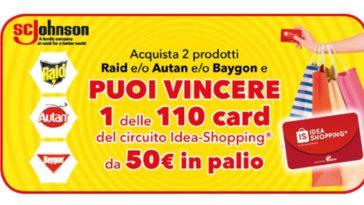Vinci lo shopping con Autan, Raid e Baygon