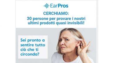 Diventa tester EarPros apparecchi acustici