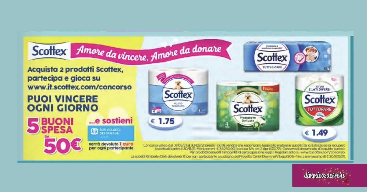 """Scottex """"Amore da vincere, amore da donare"""