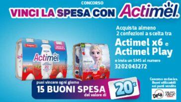 Vinci la spesa con Actimel