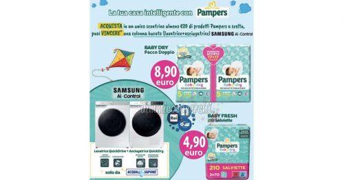 Concorso Pampers: vinci lavatrice + asciugatrice Samsung Ai-Control