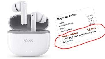 Cuffie Bluetooth offerta Amazon
