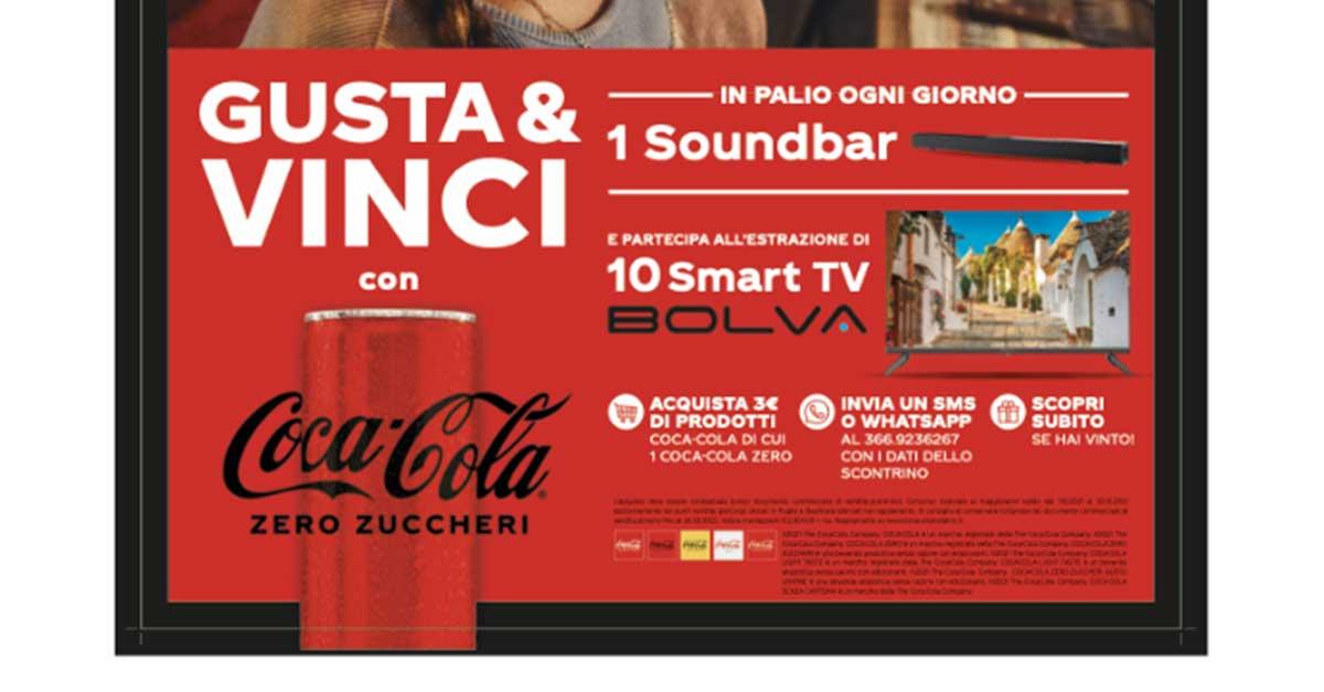 Coca-Cola: vinci Tv e Sound bar Bolva
