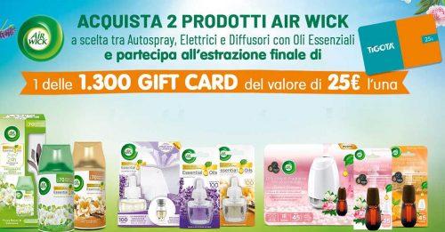 Vinci card Tigotà con Air Wick
